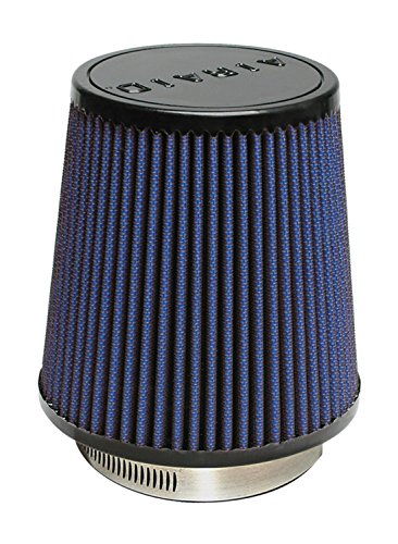 Airaid 703-452 Universal Clamp-On Air Filter: Round Tapered; 3.5 in (89 mm) Flange ID; 6 in (152 mm) Height; 6 in (152 mm) Base; 4.625 in (117 mm) Top
