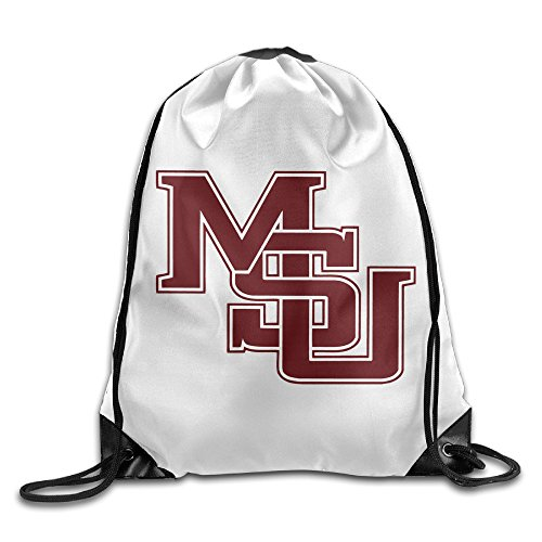 Zhanzy Mississippi State University MSU Bulldogs Logo Large Drawstring Sport Backpack Sack Bag Sackpack