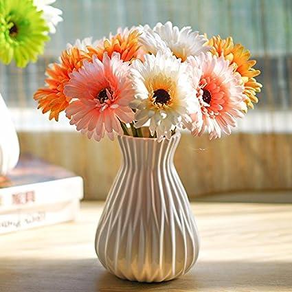 Los floreros emulación de adornos de flores de seda flores artificiales hogar decorado salón dormitorio suite