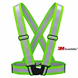 Zivalo 3M Scotchlite Reflective Vest for Outside Sports Such as Running, Cycling, Walking and Hiking - Elastic, Lightweight, Adjustable and High Visibility of up to 1000 Feet