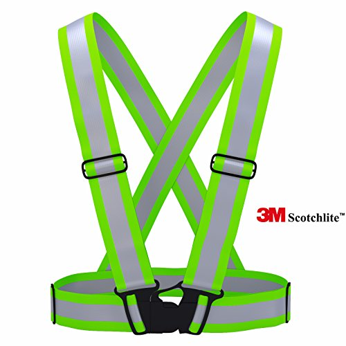 3M Scotchlite Reflective Vest for Outside Sports such as Running, Cycling, Walking and Hiking Elastic, Lightweight, Adjustable and High Visibility of up to 1000 feet