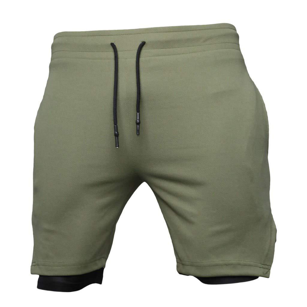 Daylin Pantalones Cortos Deportivos de Color Liso, Ajustados, para ...