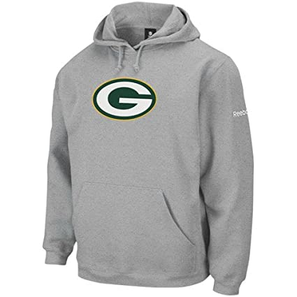 Amazon.com   Green Bay Packers Grey Playbook Fleece Hooded ... 9c76d8104