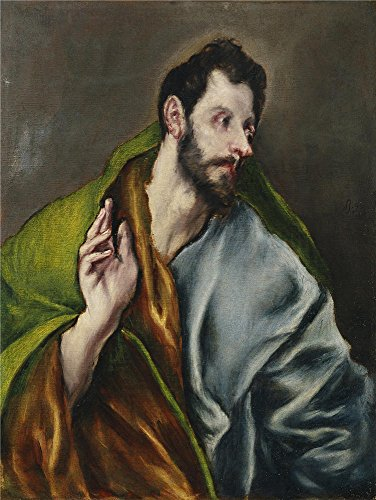 Oil Painting 'El Greco (and Workshop) Santo Tomas 1608 14', 12 x 16 inch / 30 x 41 cm , on High Definition HD canvas prints is for Gifts And Home Theater, Living Room And Powder Room Decoration, (Bleu Electric Wall Sconce)