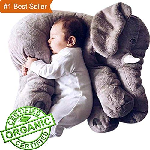 Elephant Plush Toy Stuffed Animal Grey Doll For Kids 24 inches (Elephant Bear)