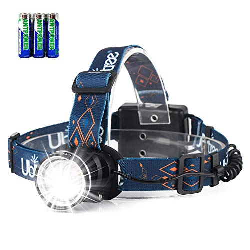LED Headlamp, HFAN Super Bright 1200 Lumens 3 Modes Adjustable Zoomable Waterproof Head Lamp for Camping, Riding, Running, Night Walking, Fishing, Hunting,Reading,Car Repairing,DIY Works ect