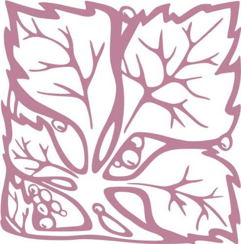 WANDTATTOO / Wandaufkleber - e67 hübsche Blümchen mit Blättern 120x118 cm - violett