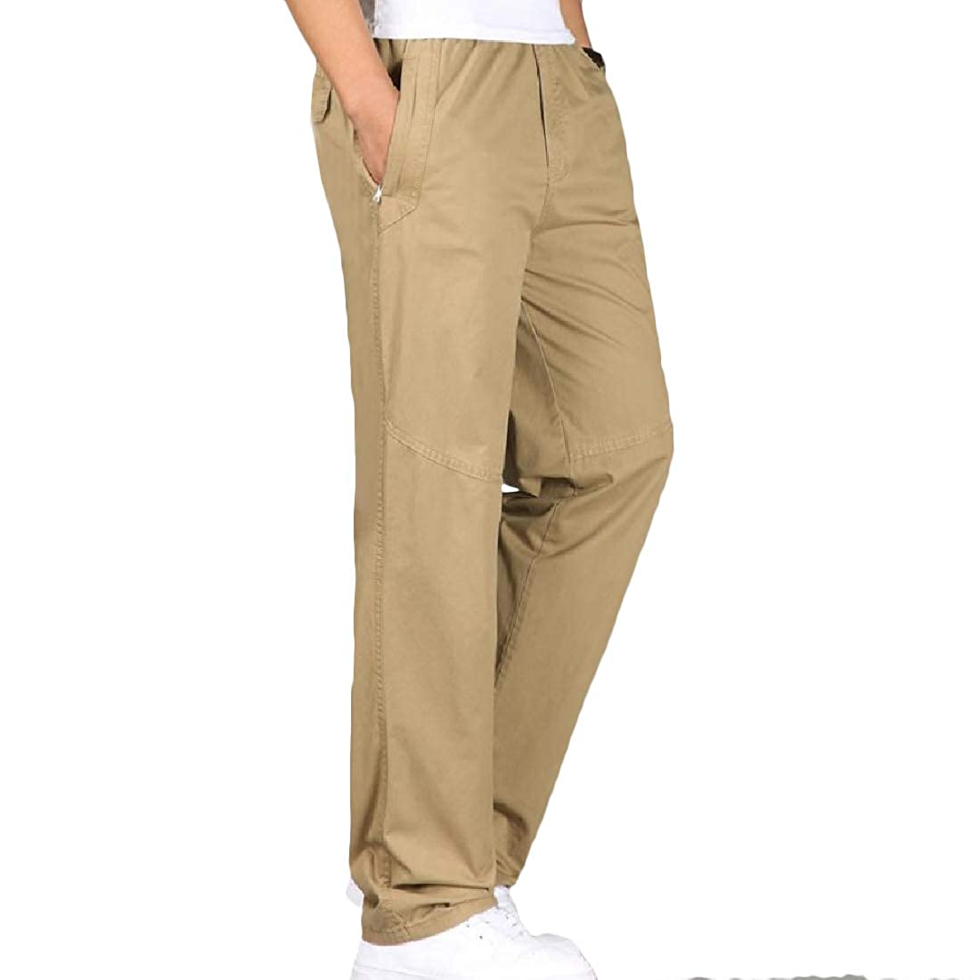 YUNY Men Oversized Work Wear Casual Trousers Thin Cargo Pants 2 S