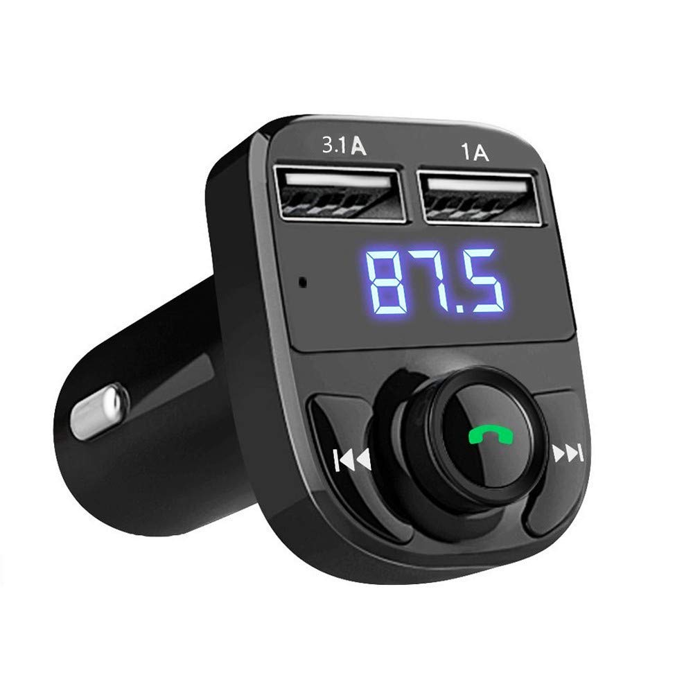 WMA//WAV Excellente qualit/é sonore,Connecter la Navigation Supporte la Carte TF et U DiskSupporte Les Cartes MP3 MerryDate Transmetteur FM,Adaptateur Bluetooth Voiture,Chargeur de Voiture