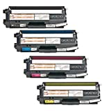 Aplus © 4pk Tn-315 Brother Laser Toner Cartridge Set Premium OEM Quality Brother Tn315 Toner Cartridges 4 Color Set Professionally Remanufactured for Brother Dcp-9055, Dcp-9055cdn, Hl-4150cdn, Hl-4570cdw, Hl-4570cdwt, Mfc-9460cdn, Mfc-9560cdw, Mfc-9970cd