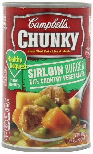 Campbell's Chunky Healthy Request Soup, Sirloin Burger with Country Vegetables, 18.8 Ounce (Pack of 12) by Campbell's (Healthy Chunky)