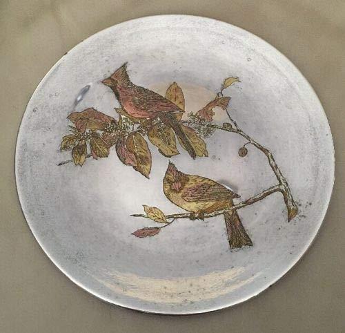 - Reed & Barton Vintage Limited Edition Damascene Cardinal Audubon Etched Plate