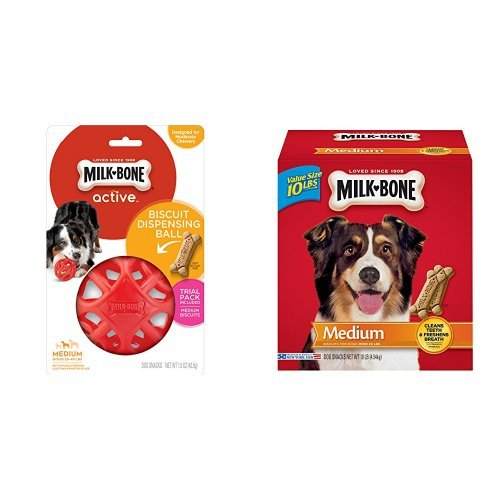 MB Active Biscuit Dispensing Ball for Medium-Sized Dogs + 10
