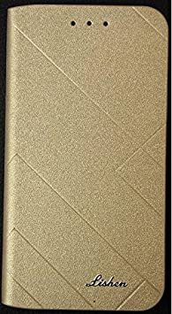Harcharan Sales Present Imported Royal Lishen Flip Cover Diary For Lenovo K8 Note  Gold  Mobile Accessories