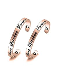 Best Bitches Forever Cuff Bracelet Gift for BFF