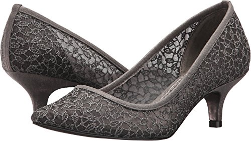 Adrianna Papell Women's Lois Lace Gunmetal Valencia Lace 8 W US