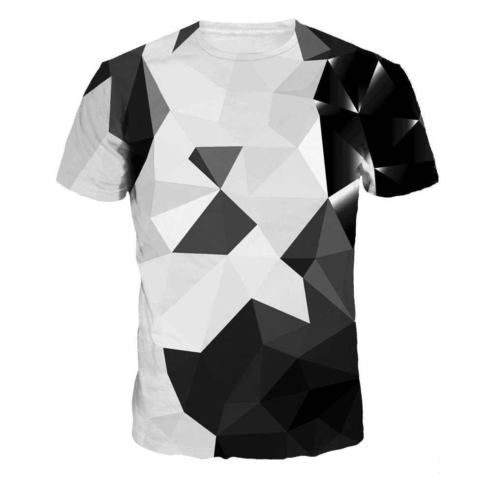 ADAHOP Unisex 3D Pattern Printed Summer Tees Shirts Casual Short Sleeve Tops M