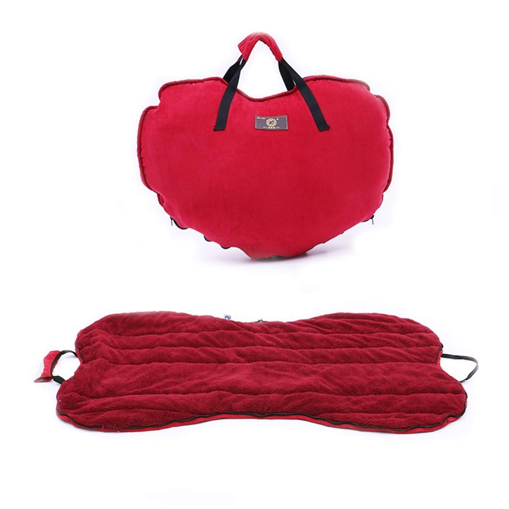 Red KYCD Portable Large Padded Pet Bolster Bed,Dog Bed & Crate Mat AntiSlip Matress Small Medium Large Pets Washable Cover Suitable for pets 90cm in length (color   RED)