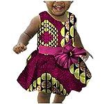 #10: Comfy Toddler Kids Baby Girls Dashiki Belt African Cotton Sundress