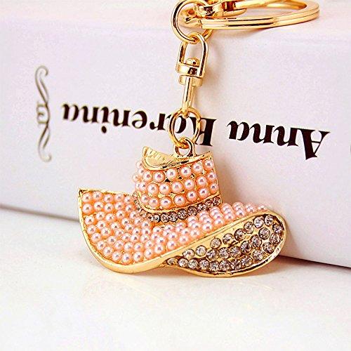 Jzcky Shzrp Straw Hat Shape Crystal Rhinestone Keychain Key Chain Sparkling Key Ring Charm Purse Pendant Handbag Bag Decoration Holiday (Shape Straw)
