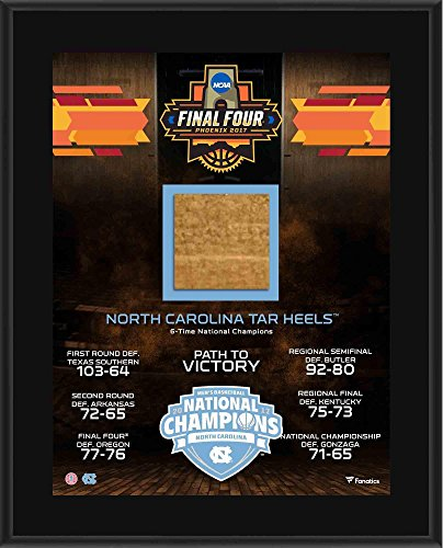 (North Carolina Tarheels 2017 NCAA Men's Basketball National Champions 10.5