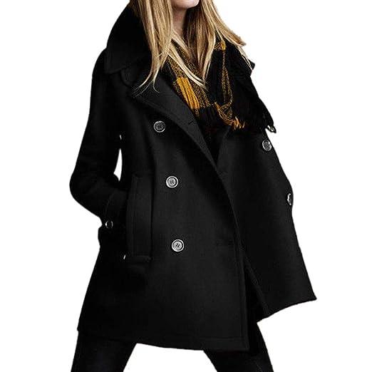 Pea Coat for Women Laimeng_World Women Solid Long Coat Parkas for Women Ladies Plus Size Winter Coats at Amazon Womens Clothing store: