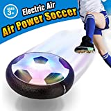 VIDEN Air Soccer Disk Football Boys, Kids Sports, Foam Bumpers and LED Lights, Gliding Training Ball for Indoor and Outdoor Activities Games, Children Toys, Black