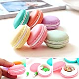 AutumnFall 6 PCS Mini Headset Necklace Erarring Toys Macarons Bag Storage Box Candy Jewelry Organizer Pill Case Container