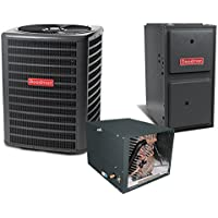 3 Ton 13.5 SEER 100k BTU 96% AFUE 2 Stage Variable Speed Goodman Central Air Conditioner & Gas Split System - Horizontal
