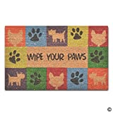 Artswow Personalized Doormat Funny Floor Mat Wipe Your Paws Door Mat with Non Slip Rubber Backing Decorative Indoor Outdoor Door Mat 18 by 30 Inch