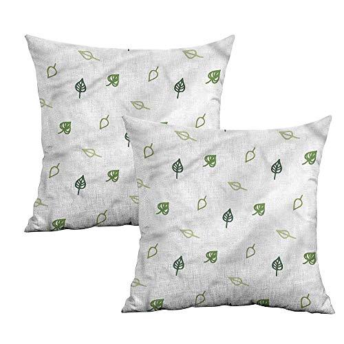Khaki home Leaf Square Travel Pillowcase Abstract Modern Leaves Square Standard Pillowcase Cushion Cases Pillowcases for Sofa Bedroom Car W 24