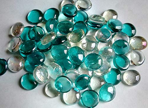 500g app 115 Turquoise Crystal Colourful Mixed Glass Pebbles/Stones/Gems/Nuggets /Beads 17-20mm Soothing Ideas Ltd