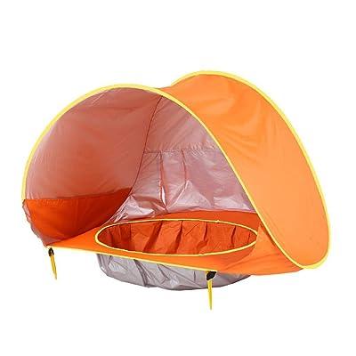 ladiy Kids Baby Games Outdoor Swimming Pool Waterproof Portable House Toys Beach Tent Shoulder Bags Orange: Clothing
