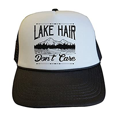 Funny Party Trucker Hats Lake Hair Dont Care Royaltee Boat Anchor Collection