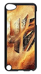 iPod 5 Cases, Hot Sale Personalized Transformers 4 Logo Desert Sand Fun Protective Hard PC Plastic Black Edge Case Cover for Apple iPod Touch 5 5th Generation