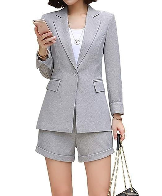 Amazon.com: Blazer de dos piezas para mujer, elegante y ...