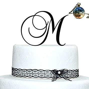 Amazon Com Initials Wedding Cake Topper Letter Cake Topper