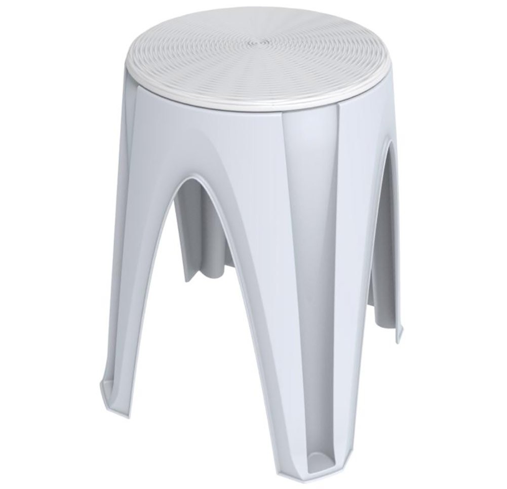 ROTATING SWIVEL STOOL By Bama Multipurpose Ideal Height For Getting Tasks Done, Great For Indoors And Outdoor Workspaces, Outdoor Patio, Kids Tables, Gardening, Fishing, 13.8x13.8x17.9 Inch (White)