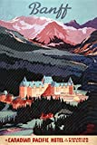 Banff, Alberta, Canada - Exterior View of Banff Springs Hotel - Vintage Advertisement (9x12 Art Print, Wall Decor Travel Poster)