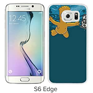 Popular Samsung Galaxy S6 Edge Case ,Beautiful And Unique Designed With Bart Simpson White Samsung Galaxy S6 Edge Cover