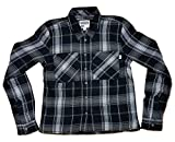 "Vans Women's ""Daisy Crop "" Woven Flannel Button Down Long Sleeve Shirt Black/Multi"