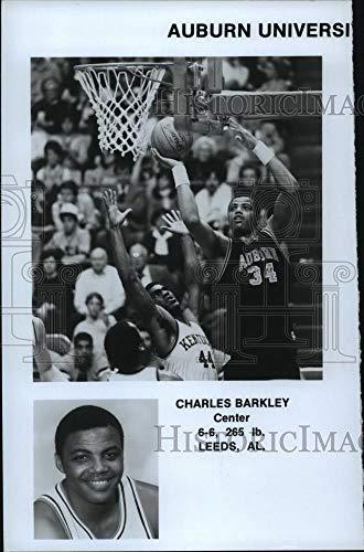(Historic Images - Vintage Press Photo Auburn University Tigers Basketball Team Center Charles Barkley)