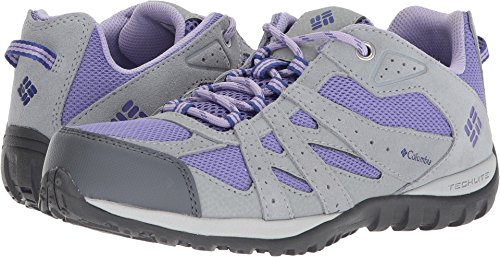 Columbia Unisex-Kids Youth Redmond Hiking Shoe, Purple Aster, Clematis Blue, 3 Regular US Little - Us Redmond