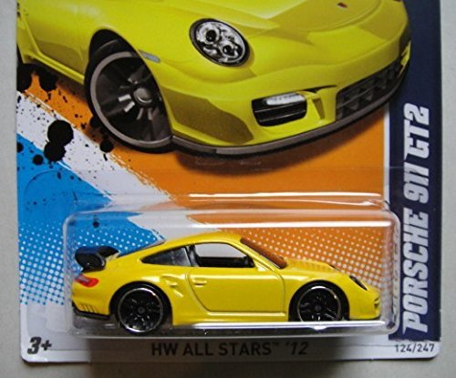 Amazon.com: HOT WHEELS 2012 HW ALL STARS YELLOW PORSCHE 911 GT2 4/10 SCAN & TRACK CARD: Toys & Games