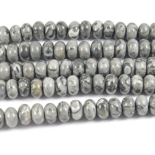 Jasper Rondelle Beads - 2