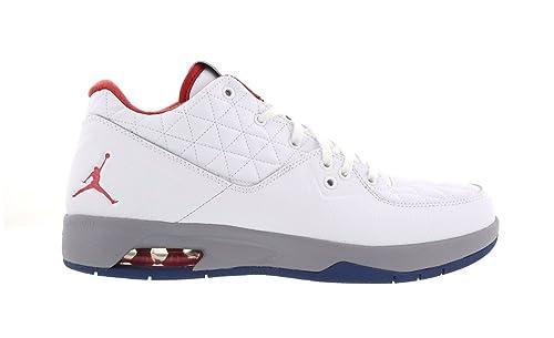 Nike Nike Jordan Clutch - Zapatillas de Piel para Hombre Blanco White/Fire Red/True Blue: Amazon.es: Zapatos y complementos