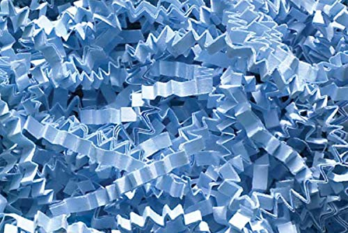 Basket Blue Gift (Crinkle Cut Paper Shred Filler (1/2 LB) for Gift Wrapping & Basket Filling - Light Blue | MagicWater Supply)