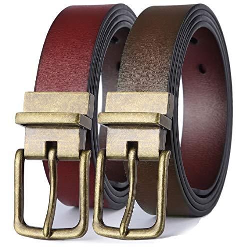 Reversible Colour - Men's Belt, Bulliant Leather Reversible Belt 1.25