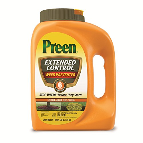 - Preen 2464161 Extended Control Weed Preventer - 4.93 lb. - Covers 805 sq. ft.