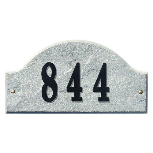 Qualarc Ridgecrest Arch Granite Address Plaque